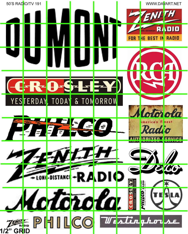 5007 - LARGE RADIO ADVERTISING SIGNAGE 1940's 1950's