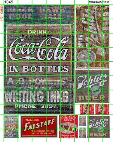 1045 - GHOST SIGNS COKE, FALSTAFF, INK, SCHILTZ MORE