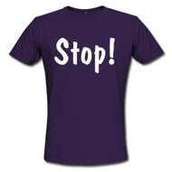Men's Summer Shirt - Stop Purple T shirt