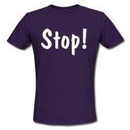 Men's Summer Shirt - Stop Purple T shirt