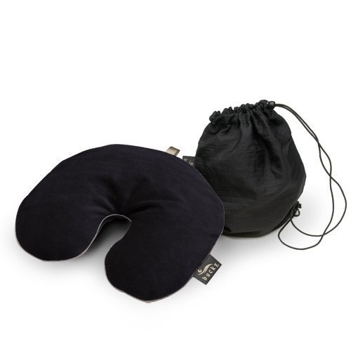 Bucky Utopia Black Neck Travel Pillow with Bucky Bag