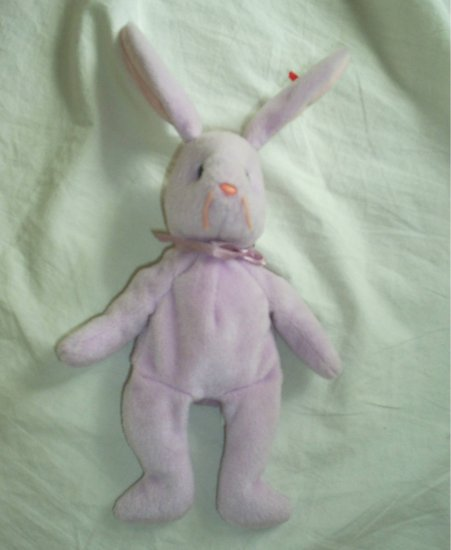 TY Beanie Baby FLOPPITY Purple Bunny Rabbit Plush Toy