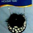 New French Purse Black/White Handbag Christmas Tree Ornament