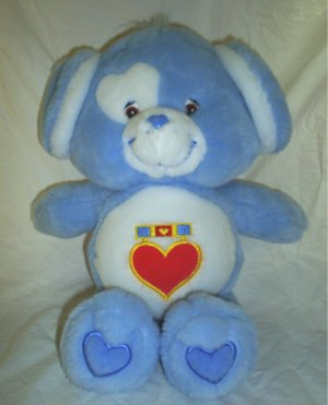 "Care Bear Cousin Cousins Loyal Heart Dog Blue 13"" Plush Toy Bears"