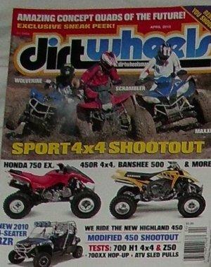 1 Back Issue Dirt Wheels Magazine April 2010