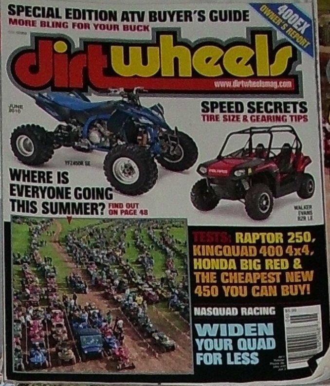 1 Back Issue Dirt Wheels Magazine June 2010