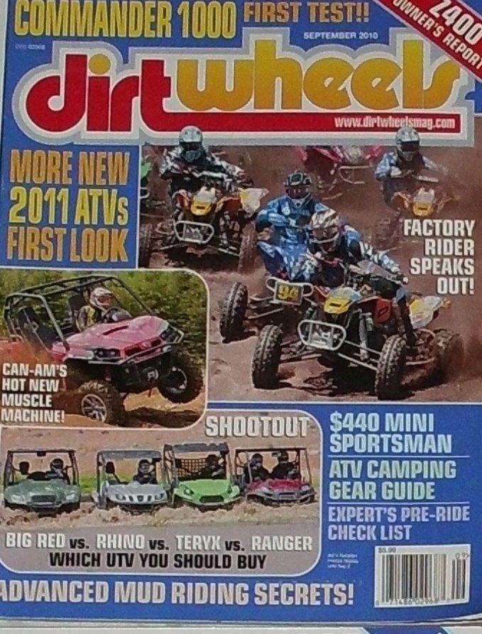 1 Back Issue Dirt Wheels Magazine September 2010
