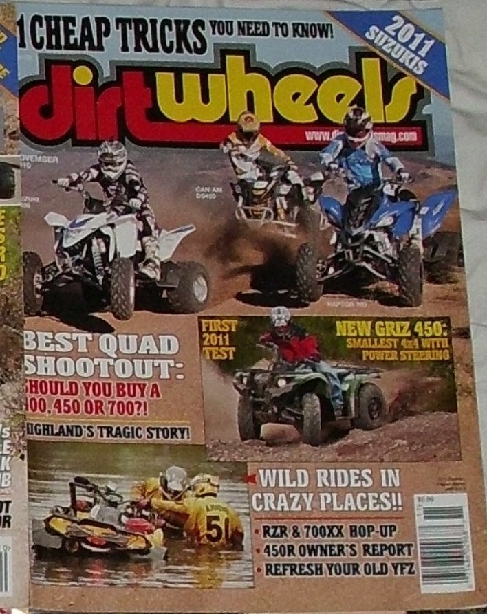 1 Back Issue Dirt Wheels Magazine November 2010