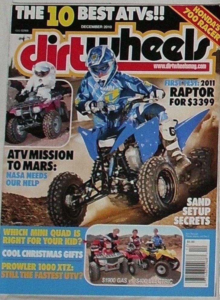 1 Back Issue Dirt Wheels Magazine December 2010