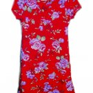 JONATHON MARTIN Red Crepe Floral Dress Girls 6x 7