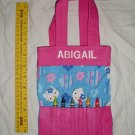 "Hello Kitty Personalized ""Abigail"" Crayon Tote Handbag Purse Little Girls Bag"
