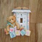 Enesco Pricilla Hillman Teddy Bear Light Switch Cover Baby Nursery Decor alphabet blocks