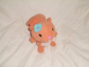 "Leap Frog Leapfrog Baby SAMI SQUIRREL 5"" Orange Plush Toy"