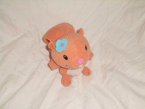 """Leap Frog Leapfrog Baby SAMI SQUIRREL 5"""" Orange Plush Toy"""