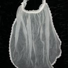 Short Ivory Bridal Veil Vintage Lace Tulle Bride Wedding Headpiece