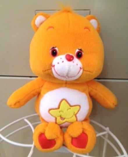 "Care Bears Laugh-a-lot Bear 11"" Orange Plush Toy Star Tummy"