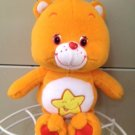 "Care Bears Laugh-a-lot Bear 11"" Orange Plush Toy Star Tummy"