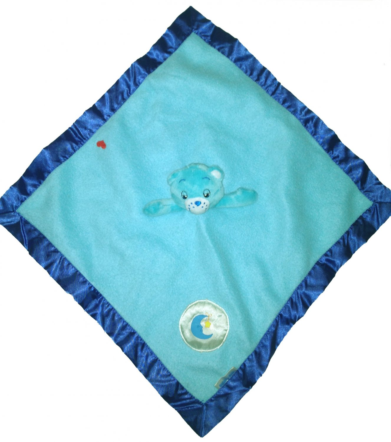 Care Bears Blue Blanky Security Blanket Bedtime Musical Fleece Lovie Snuggle Toy Lovey 2002