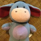 "Disney Eeyore Fisher Price 9"" Blue Plush Stuffed Toy 2006 Mattel Vintage"