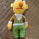 "Vintage Hasbro Softies Bert Soft Doll 13"" Stuffed Toy Sesame Street 80's"