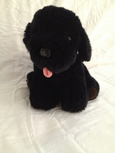 "Vintage Dakin Black Lab Labrador 9"" Plush 1985 Toy Stuffed Animal Puppy Dog"
