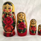 Authentic Russian Semenov Wooden Nesting Dolls Matryoshka for Display purchased USSR Russia Wood