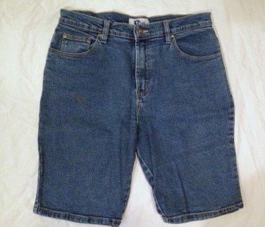 Arizona Denim Bermuda Shorts Size 11 Juniors Flat Front