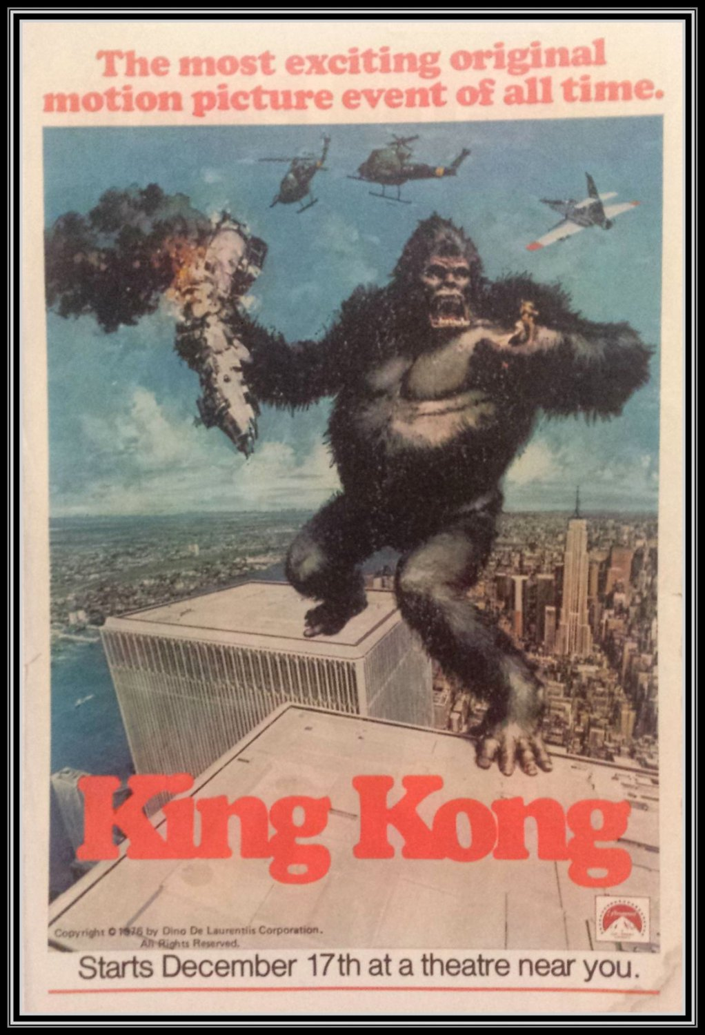 Vintage King Kong Movie Promo 1976 Jeff Bridges Jessica Lange