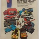 Corgi Super Heroes Cars Comic Book Ad, 1979 PRINT ADVERT