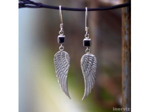 925 Sterling Silver Wings 45mm Dangle Earring Balines ES11
