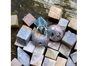 925 Sterling Silver Flower 25mm Granulation Technique Hoop Creolen Bali Earring