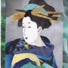 "Print of Geisha Handmade Artisan Recycled Paper Collage No 1 8 x 10"""