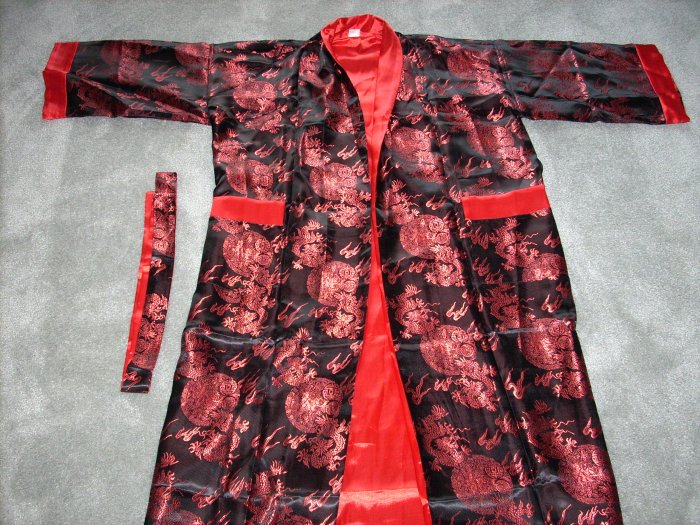 Chinese red dragon robe