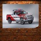Chevrolet Silverado Volunteer Firefighters Concept Poster 36x24 inch