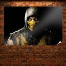 Mortal Kombat Yellow Scorpion Poster 36x24 inch
