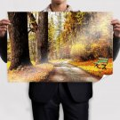 Autumn Forest Path Poster 36x24 inch