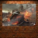 World Of Tanks Game Poster 36x24 inch