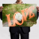 Logo Of Love Poster 36x24 inch