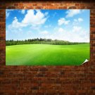 Beaufitul Green Grass Field Poster 36x24 inch