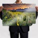 Sunset In Desert Poster 36x24 inch