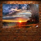 Gorgeous Autumn Sunset Poster 36x24 inch