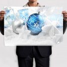 Blue And Silver Globes Poster 36x24 inch