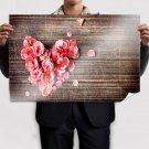 Rose Petals Heart Poster 36x24 inch