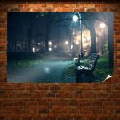 A Lonely Walk In Night Poster 36x24 inch