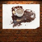 Love For Coffee Poster 36x24 inch