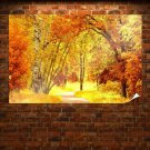 Yellow Autumn Landscape Poster 36x24 inch