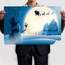 Cute Little Snowman Poster 36x24 inch