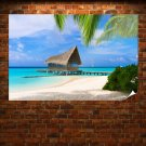 Bungalow In Maldives Poster 36x24 inch
