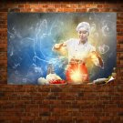 Creative Asian Chef Poster 36x24 inch