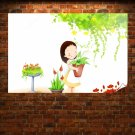 Liitle Girl Smiling Poster 36x24 inch